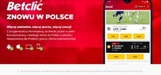 Betclic znowu legalny w Polsce komunikat na stronie
